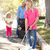 mother and daughters picking up litter in suburban street stock photo © monkey_business