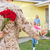 family welcoming husband home on army leave stock photo © monkey_business