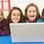 group of schoolgirls in it class using computer stock photo © monkey_business