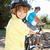 feliz · pequeno · menino · bicicleta · isolado · branco - foto stock © monkey_business