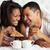paar · genieten · ontbijt · liefde · vrienden - stockfoto © monkey_business