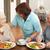 senior · man · geserveerd · maaltijd · verzorger · gezondheid - stockfoto © monkey_business