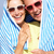 senior couple sheltering from sun on beach holiday stock photo © monkey_business
