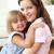 afetuoso · mãe · filha · casa · criança - foto stock © monkey_business