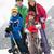 group of children on ski holiday in mountains stock photo © monkey_business