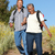 ver · feliz · casal · de · idosos · de · mãos · dadas · olhando - foto stock © monkey_business