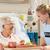 idős · nő · beteg · ágy · kórház · gyógyszer - stock fotó © monkey_business