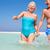idős · pár · fut · gyönyörű · tengerpart · férfiak · homok - stock fotó © monkey_business