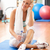 woman resting after exercises in gym stock photo © monkey_business