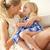 mãe · relaxante · casa · filha · família · menina - foto stock © monkey_business