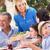 idős · nő · adag · többgenerációs · család · étel · férfi - stock fotó © monkey_business