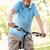 gelukkig · senior · man · paardrijden · fiets · zomer - stockfoto © monkey_business
