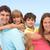 család · háton · jókedv · tengerparti · nyaralás · tengerpart · boldog - stock fotó © monkey_business