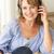 mid age woman wearing headphones stock photo © monkey_business