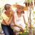 kıdemli · kadın · bahçıvanlık · pot · çiçekler - stok fotoğraf © monkey_business
