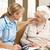 старший · женщину · обсуждение · здоровья · посетитель · домой - Сток-фото © monkey_business