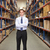 portrait of manager in warehouse stock photo © monkey_business