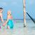 romântico · casal · de · idosos · em · pé · belo · tropical · mar - foto stock © monkey_business