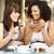 mulher · jovem · sessão · café · alimentação · doce - foto stock © monkey_business