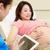 mujer · embarazada · reunión · enfermera · clínica · mujeres · hospital - foto stock © monkey_business