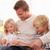 vieillard · lecture · livre · enfants · famille · enfant - photo stock © monkey_business