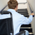 man in wheelchair at foot of stairs stock photo © monkey_business