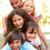 grup · çocuklar · yukarı · park · kız · mutlu - stok fotoğraf © monkey_business