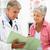 mulher · leitura · médico · registros · sessão · médicos - foto stock © monkey_business