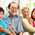 portrait of chinese grandparents with grandchildren relaxing at stock photo © monkey_business