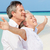 casal · de · idosos · brasão · belo · praia · verão · oceano - foto stock © monkey_business