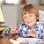 young boy making model ship stock photo © monkey_business