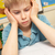 stressed schoolboy studying in classroom stock photo © monkey_business