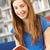 kadın · öğrenci · kütüphane · okuma · kitap - stok fotoğraf © monkey_business