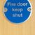keep shut sign on fire door stock photo © monkey_business