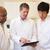gülen · erkek · doktor · dijital · tablet · genç · beyaz - stok fotoğraf © monkey_business