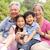 abuelo · nietos · sesión · parque · feliz · altos - foto stock © monkey_business