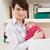 nő · újszülött · baba · dolgozik · otthon · laptopot · használ - stock fotó © monkey_business