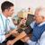 médico · toma · presión · arterial · medicina · trabajador · blanco - foto stock © monkey_business