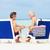 casal · de · idosos · praia · relaxante · cadeiras · amor · verão - foto stock © monkey_business