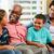 abuelos · hablar · nietos · familia · nina · hombre - foto stock © monkey_business