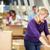 munkások · raktár · áru · nő · nők · doboz - stock fotó © monkey_business