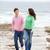 カップル · ロマンチックな · 徒歩 · 海浜砂 · 手 - ストックフォト © monkey_business
