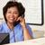 verpleegkundige · telefoongesprek · station · vrouw - stockfoto © monkey_business