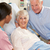 nővér · beszél · idős · pár · nők · orvosi · pár - stock fotó © monkey_business