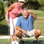 senior · femminile · golfista · campo · da · golf · up · verde - foto d'archivio © monkey_business