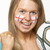 young female football fan with st georges flag painted on face stock photo © monkey_business