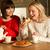 dwa · w · średnim · wieku · kobiet · herbaty · ciasto - zdjęcia stock © monkey_business