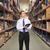 magazzino · manager · iscritto · appunti · felice · industria - foto d'archivio © monkey_business