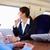 üzletasszony · ingázás · munka · vonat · laptopot · használ · nők - stock fotó © monkey_business