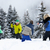group of young friends having snowball fight on ski holiday in m stock photo © monkey_business